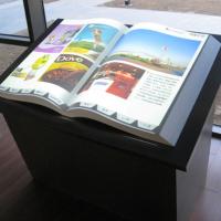 供应全息互动电子翻书,全息立体拼图,展示专用透明背投幕