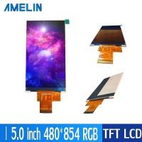 5寸TFT LCD480*854分辨率 RGB接口 IPS