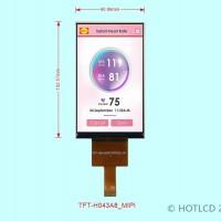4.3寸竖屏MIPI接口TFT彩屏带电容触摸